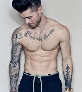 Sportive man tattoo