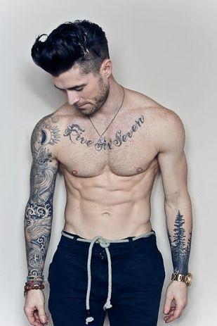 Sportive man tattoo
