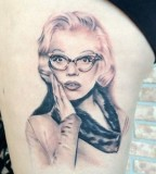 Surprised Marilyn Monroe tattoo