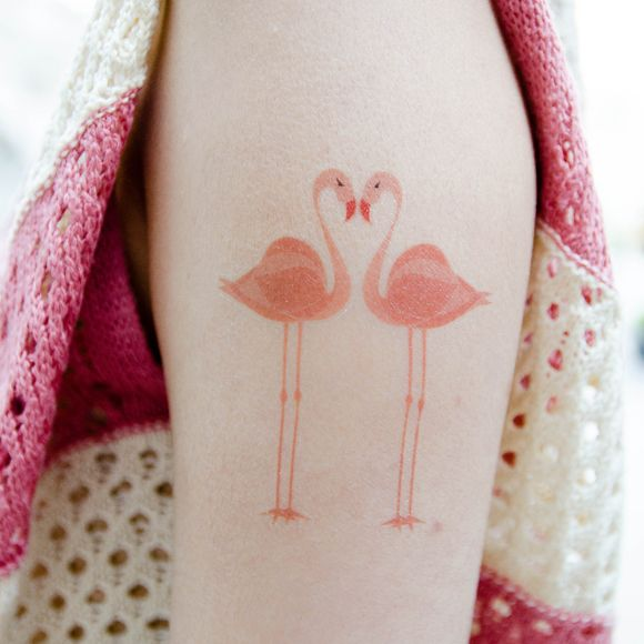 Amazing flamingo tattoos