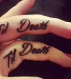 Till death couples tattoo