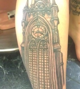 Tower tattoo by Duane