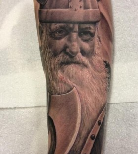 Viking tattoo by Michelle Maddison