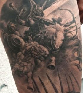 War tattoo by Andy Engel