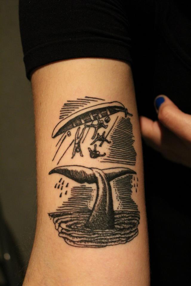 Whale black tattoo