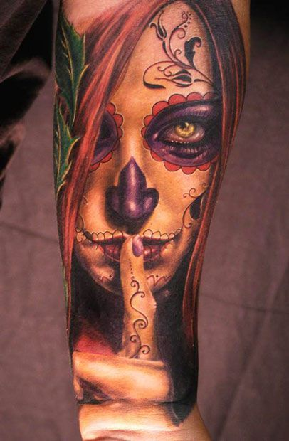 Woman tattoo by Andy Engel