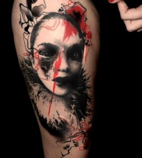 Woman tattoo by Volko Merschky