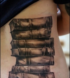 Wonderful book tattoo