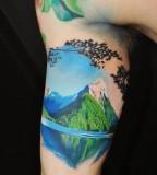 Wonderful mountains tattoo
