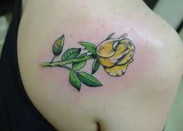 Yellow rose tattoo idea