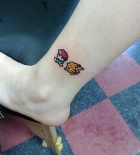Yellow tattoo