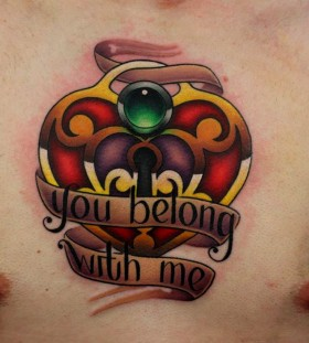 You belong to me heart tattoo by Michelle Maddison