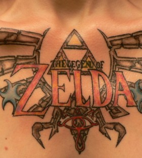 Zelda video games tattoo