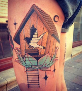 aivaras lee tattoo bird house