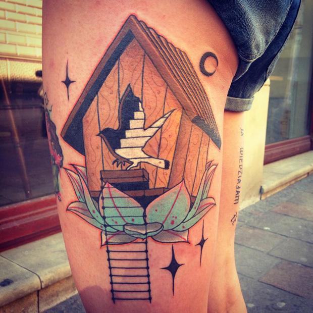 aivaras lee tattoo bird house