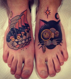 aivaras lee tattoo cats feet work