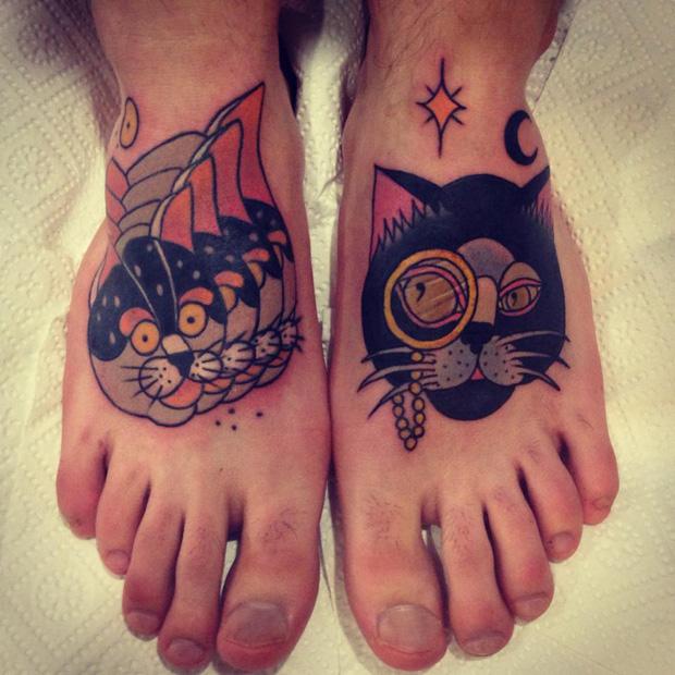 aivaras lee tattoo cats feet work