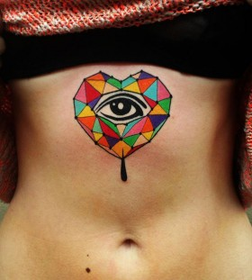 aivaras lee tattoo colorful geometric heart