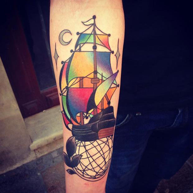 aivaras lee tattoo sail vessel