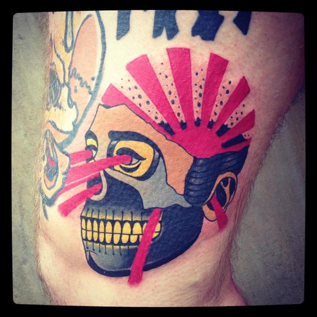 aivaras lee tattoo skull