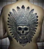 back tattoo design for women amazing skull