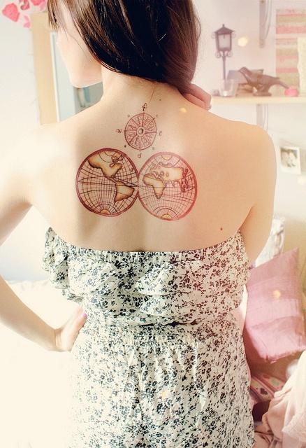 back tattoo design for women red world