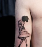 beautiful dancer tattoo by M-X-M