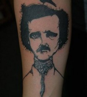 black ink edgar allen poe and the raven tattoo