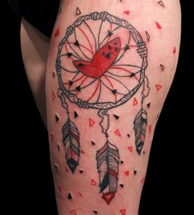 dream catcher tattoo by matik
