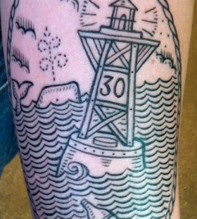 duke riley tattoo buoy