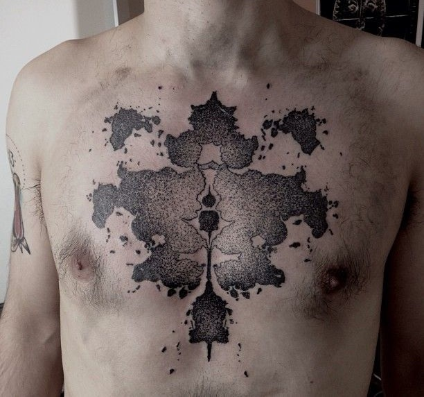 fractal tattoo on chest by M-X-M