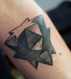 geometric star tattoo by M-X-M