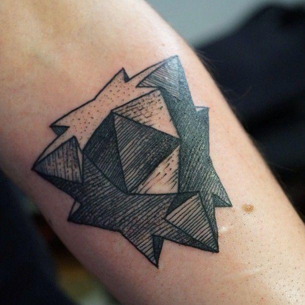 geometric star tattoo by M-X-M