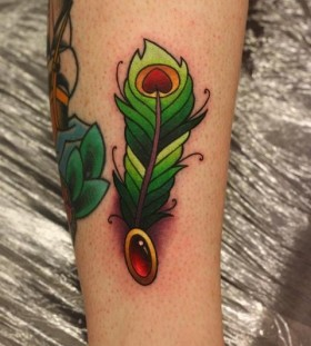 green tattoo by Michelle Maddison