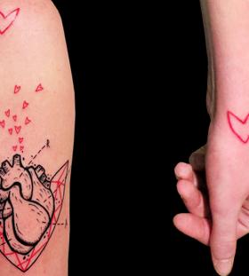 heart tattoo on arm by matik