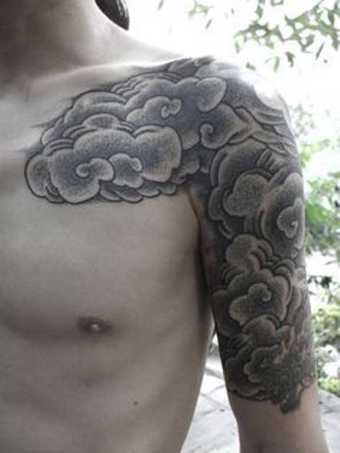 kenji alucky tattoo cloudy arm sleeve
