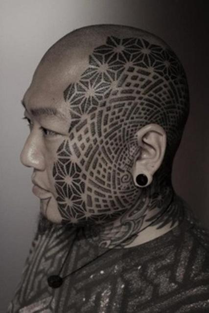 kenji alucky tattoo  face tattoo