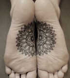 kenji alucky tattoo  flower on feet