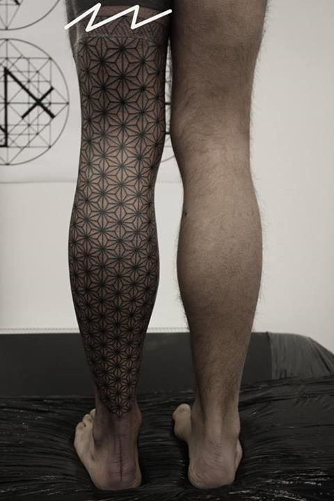 kenji alucky tattoo  full leg sleeve