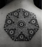 kenji alucky tattoo  mandala on back
