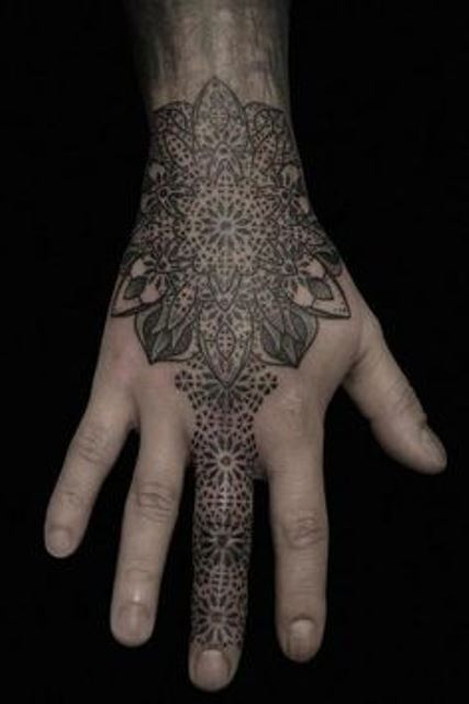 kenji alucky tattoo  on hand and finger