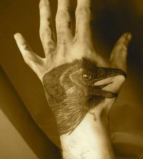 liam sparkes tattoo crow on hand