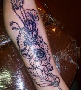 liam sparkes tattoo flowers