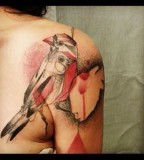 marta lipinski bird shoulder tattoo