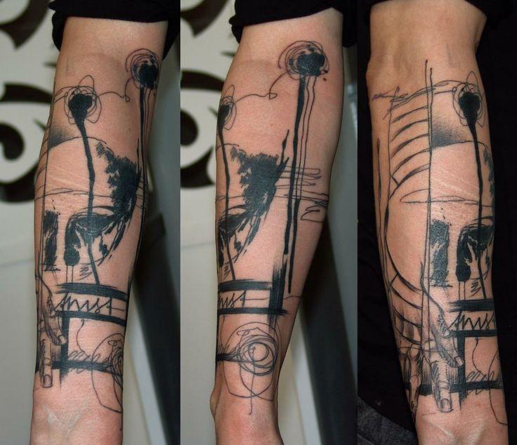 marta lipinski black abstract tattoo