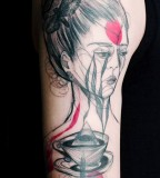 marta lipinski woman with coffee tattoo