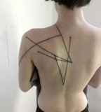 modern tattoo geometric black angles