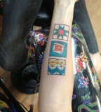 modern tattoo three squares
