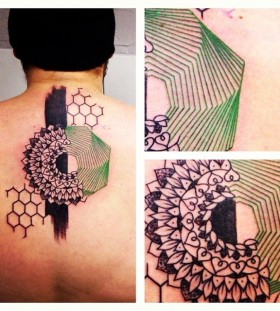seb inkme black and green mandala tattoo