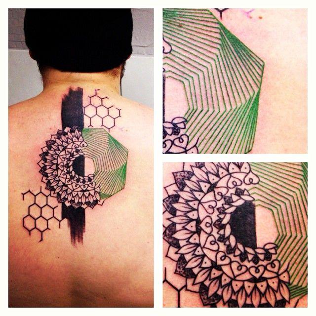 seb inkme black and green mandala tattoo